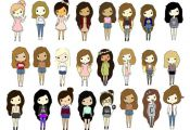 """""""Cute cartoon people!"""" by tumblinggirl ❤ liked on Polyvore"""