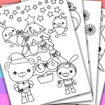 DIGITAL - INSTANT DOWNLOAD PRINTABLE COLORING PAGE  This listing give you a seri...