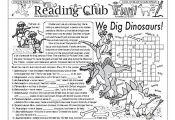 DINOSAURS – We Dig Them! Puzzle Set. Includes:  • Two-Page Activity Set – ...