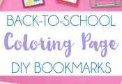 DIY Back to School Coloring Page Bookmarks. Make them for yourself or gift a set...