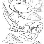 Dinosaur, : Buddy the Little T-Rex in Dinosaur Train in Dinosaur Coloring Page