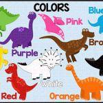 "Dinosaur Color Chart 11"" x 17"" from Johnson Creations on TeachersNotebook.com - ..."