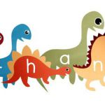 Dinosaur Vinyl decalsl; Custom dinosaurs with name, choose colors, size. Custom ...