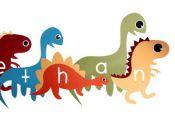 Dinosaur Vinyl decalsl; Custom dinosaurs with name, choose colors, size. Custom ...
