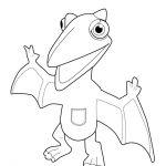 Dinosaur coloring page for kids, printable free - dragon dinosaur train toy