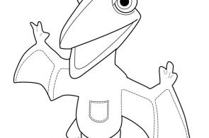 Dinosaur coloring page for kids, printable free - dragon dinosaur train toy