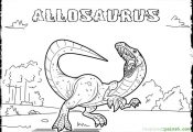 Dinosaurs Coloring Pages Allosaurus