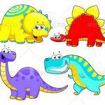 Dinosaurs Family.  #GraphicRiver         Dinosaurs Family. Funny cartoon and vec...