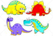 Dinosaurs Family.  #GraphicRiver         Dinosaurs Family. Funny cartoon and vec...