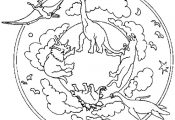 Dinosaurs Mandala Coloring Pages