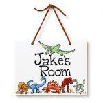Dinosaurs Name Plaque