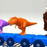 Dinosaurs Names & Sounds For Children | Farm Animals, Sea Animals Cartoons | Fin...