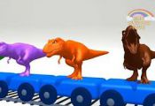 Dinosaurs Names & Sounds For Children | Farm Animals, Sea Animals Cartoons | Fin...
