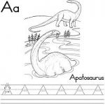 Dinosaurs and Extinct Animals Alphabet Coloring Pages, Handwriting Worksheets