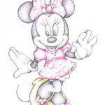 Disney Cartoon Drawings | Disney Cartoon Colour Pencil Drawing Drawing - Minnie ...
