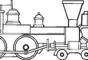 Drawing of Steam Train Locomotive Coloring Page | Color Luna