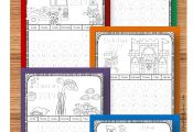 FREE 2018-2019 Printable Calendar Pages to Color - these monthly themed coloring...