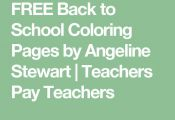 FREE Back to School Coloring Pages by Angeline Stewart | Teachers Pay Teachers