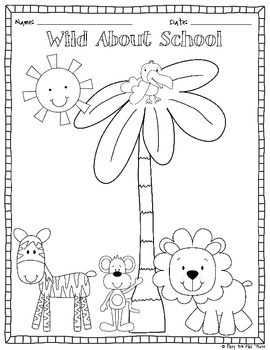 FREEBIE- Back To School Color Page and Writing Center image 2 Wallpaper