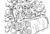 Flintstones color page cartoon characters coloring pages, color plate, coloring ...