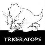 Free Instant Downloads Triceratops Cute Dinosaurs Coloring Pages #coloring #colo...