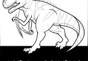 Free Instant Downloads Tyrannosaurus Cute Dinosaurs Coloring Pages #coloring #co...