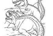 Free Printable Coloring Page of Two Dinosaurs