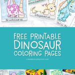 Free Printable Dinosaur Coloring Pages | Kids will love coloring these cute and ...