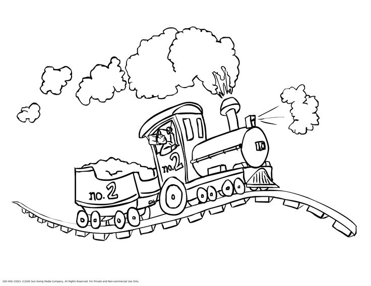 Free-Printable-Train-Coloring-Pages-Template-To-Print Free Printable Train Coloring Pages   Template To Print Train
