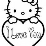Free printable hello kitty valentines day coloring pages for kids.free print out...