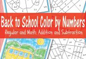 Free printables: Back to School Color by Numbers with addition and subtraction f...