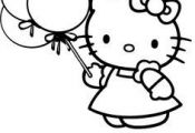 Free worksheets for kid: Hello Kitty Coloring Pages, Kitty