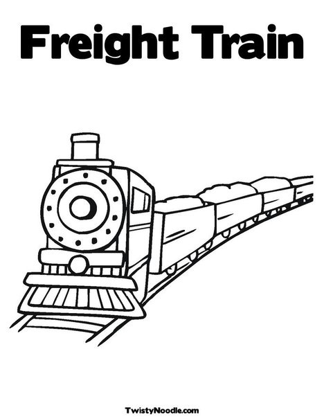 Freight Train Coloring Page from TwistyNoodle.com- Customizable. Personalize and… Wallpaper