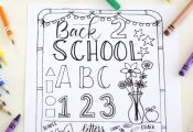 Get the kids excited to about starting school with this free printable back to s...