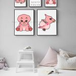 Girly dinosaur. Dinosaur nursery ideas. Girl nursery ideas. Pink dinosaur clipar...