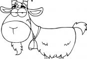 Goat Cartoon Coloring Pages