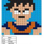 Goku- Practice Subtraction Cartoon Coloring