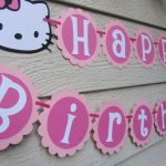 Hello Kitty Birthday Banner Pink Can be Personalized With Name or Color Choice. ...