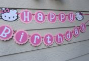 Hello Kitty Birthday Banner Pink Can be by CelebrationPaper, $22.99