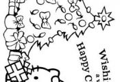 Hello Kitty Christmas Coloring Pages | disney hello kitty christmas coloring pag...