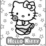 Hello Kitty Coloring Pages. To use for the cake transfer or decor/games