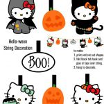 Hello Kitty Halloween Banner Print-Out