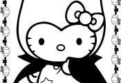 Hello Kitty Halloween Coloring Pages                                            ...