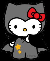 Hello Kitty Halloween – Dracula Wallpaper