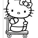 Hello Kitty Kleurplaten voor kinderen. Kleurplaat en afdrukken tekenen nº 16
