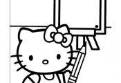 Hello Kitty Kleurplaten voor kinderen. Kleurplaat en afdrukken tekenen nº 17