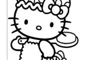 Hello Kitty Kleurplaten voor kinderen. Kleurplaat en afdrukken tekenen nº 19
