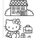 Hello Kitty Kleurplaten voor kinderen. Kleurplaat en afdrukken tekenen nº 26