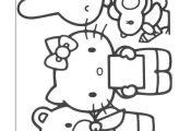Hello Kitty Kleurplaten voor kinderen. Kleurplaat en afdrukken tekenen nº 29
