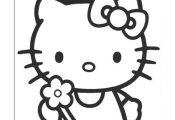Hello Kitty Kleurplaten voor kinderen. Kleurplaat en afdrukken tekenen nº 4